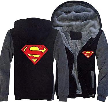 メンズパーカーフルジッパープリント漫画ベルベットパッド入りフード付きセーターコートフリースパーカー、冬に適しています