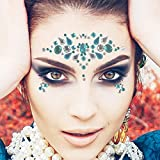 COKOHAPPY 6 Sets Rhinestone Mermaid Face Jewels