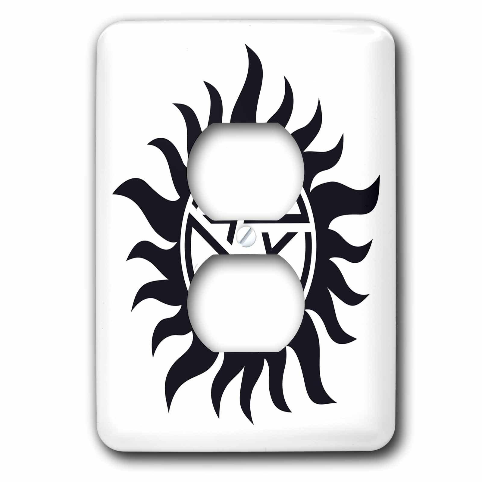 3dRose lsp_193333_6 Supernatural Symbol, 2 Plug Outlet Cover