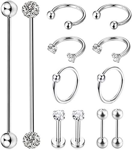 Amazon Com Masedy 12pcs Stainless Steel Industrial Barbell