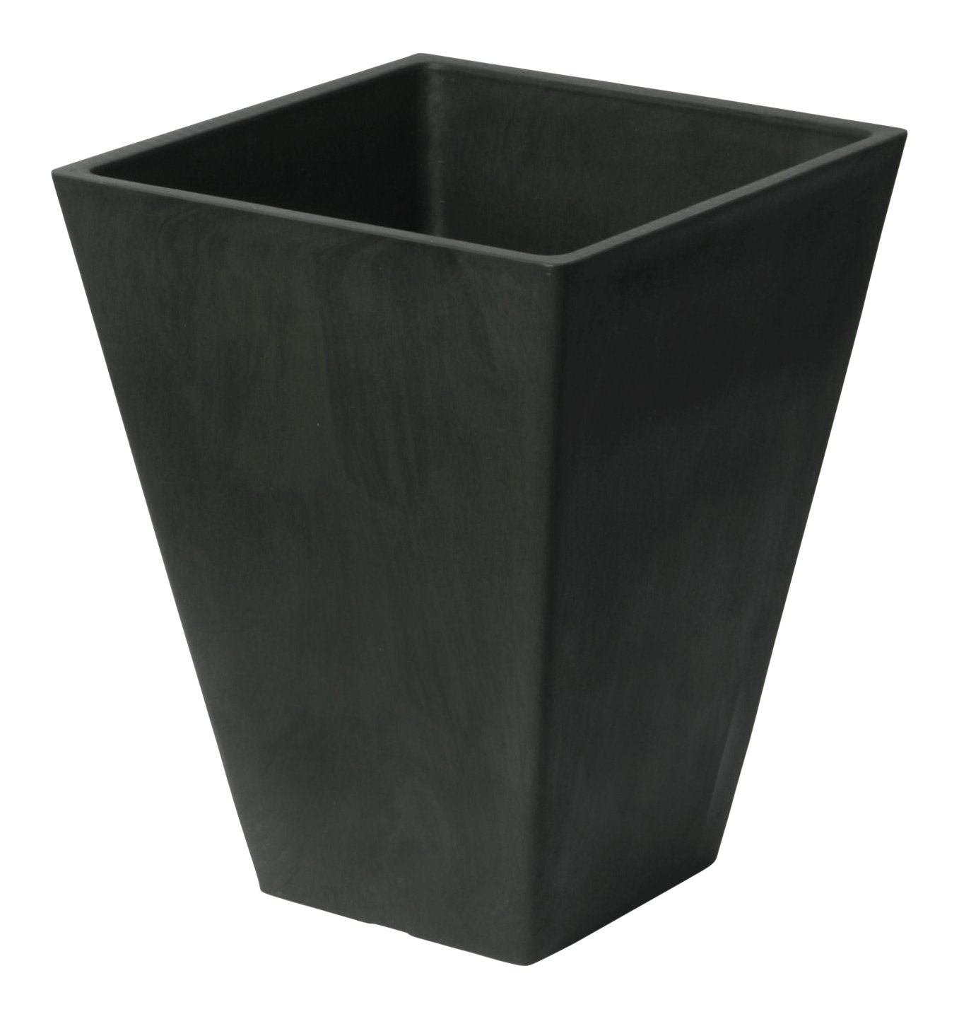 Algreen 14'' Square Planter | Matte Black