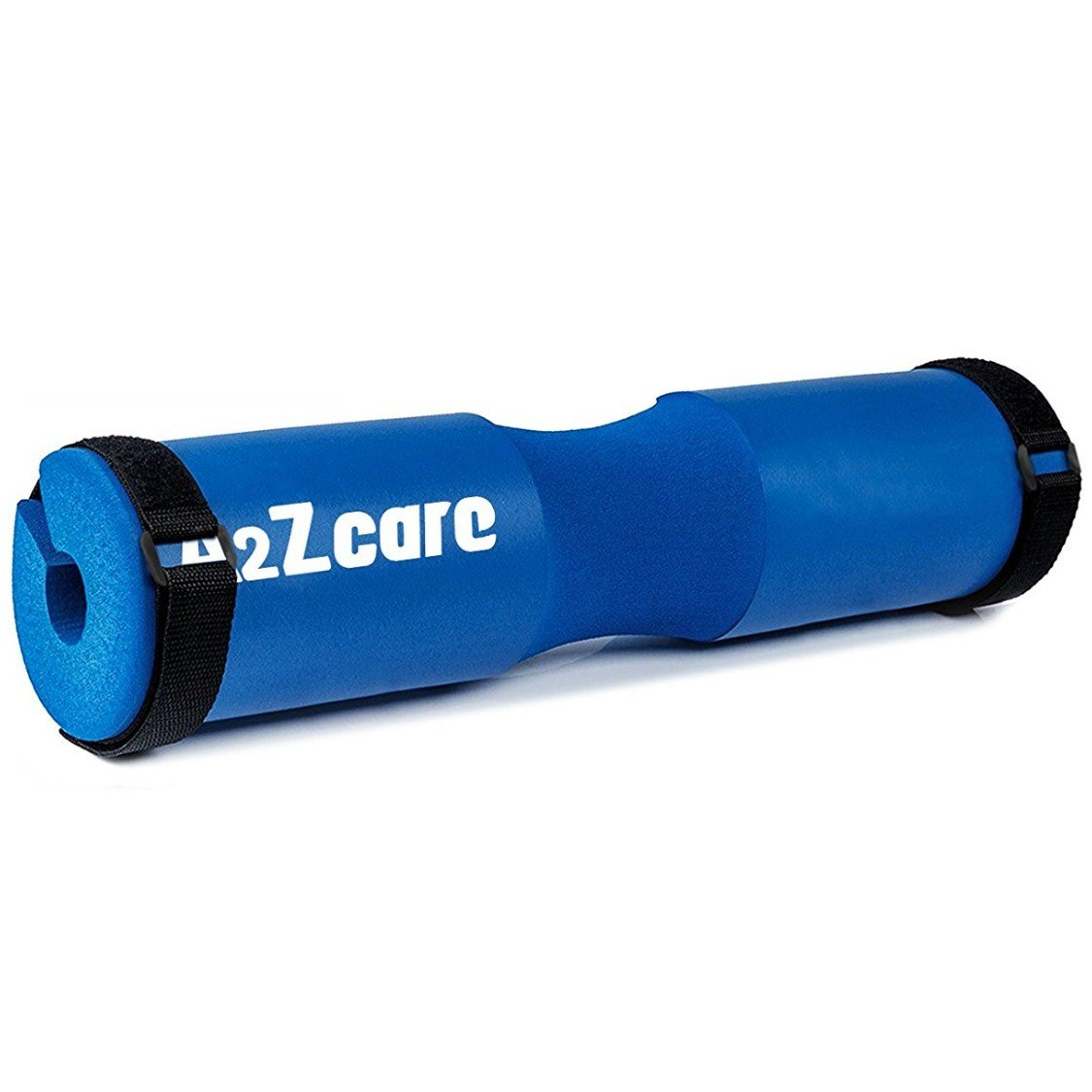 A2ZCARE Squat Pad Fits Olympic Weightlifting Bar with 2 Belts for Secure & Nonslip - Comfortable Thick Foam Barbell Pad for Squats, Lunges & Hip Thrusts - Protect Neck & Shoulder