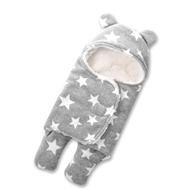 0-3 Monate, Blau HOYMN Baby Schlafsack Swaddle Neugeborene Kapuze Separate Beine Baby Pucktuch Herbst Winter M/ädchen Junge Wickeldecke 0-1 Jahr