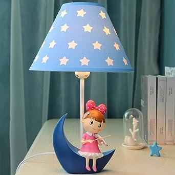 Lámpara de mesa dormitorio niña - LED princesa romántica ...