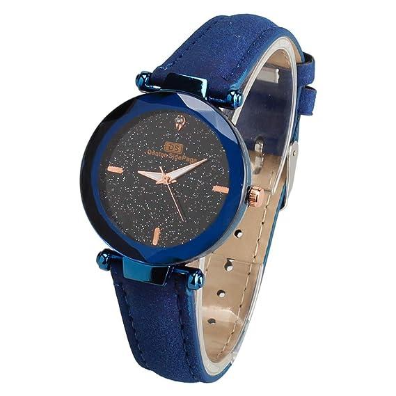 ZODOF Moda Reloj de Cuarzo de Acero de Moda Retro Simple Reloj de Cuarzo de Malla para Damas: Amazon.es: Ropa y accesorios