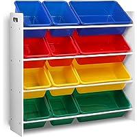 12 Bin Toy Organiser Storage Rack