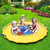 DAPRIL Splash Play Mat, 68in-Diameter Perfect Inflatable Outdoor Sprinkler Pad Summer Fun Backyard Play for Infants Toddlers and Kids