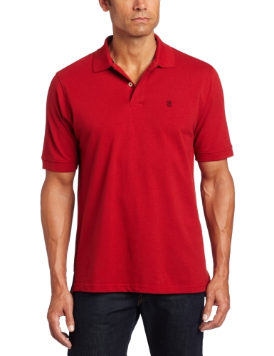 IZOD Men's Big and Tall Heritage Short Sleeve Polo, Real Red, 4X-Large Big (Knit Advantage Pique)