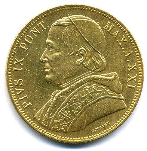 Münze 1866 Italien 100 Lire Kirchenstaat Vatikan Papst Pius Ix