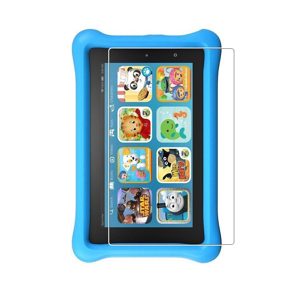 (2pack) Fire Kids Edition Protector de pantalla, 9H Dureza Anti-Scratch Protector de pantalla de vidrio templado sin burbujas para Fire Kids Edition, ...