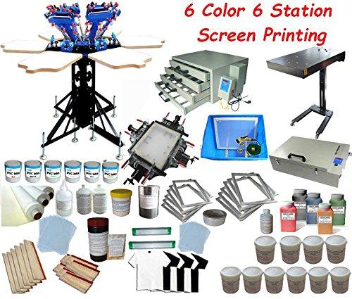Full Set 6-6 Color Screen Printing Kit
