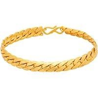Voylla Strand Bracelet for Men (Golden)(8907617107837)