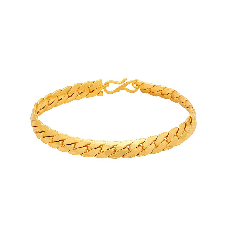c90fae230bb9f9 Voylla Strand Bracelet for Men (Golden)(8907617107837)  Amazon.in  Jewellery