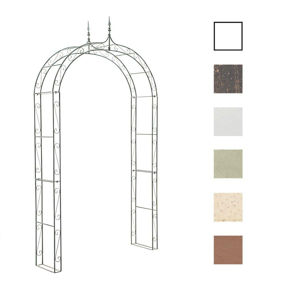 CLP Metall-Rosenbogen LENZ, Eisen, Pulverbeschichtung, Größe ca. 150 x 40 cm, Durchgangs-Höhe 230 cm antik-grün