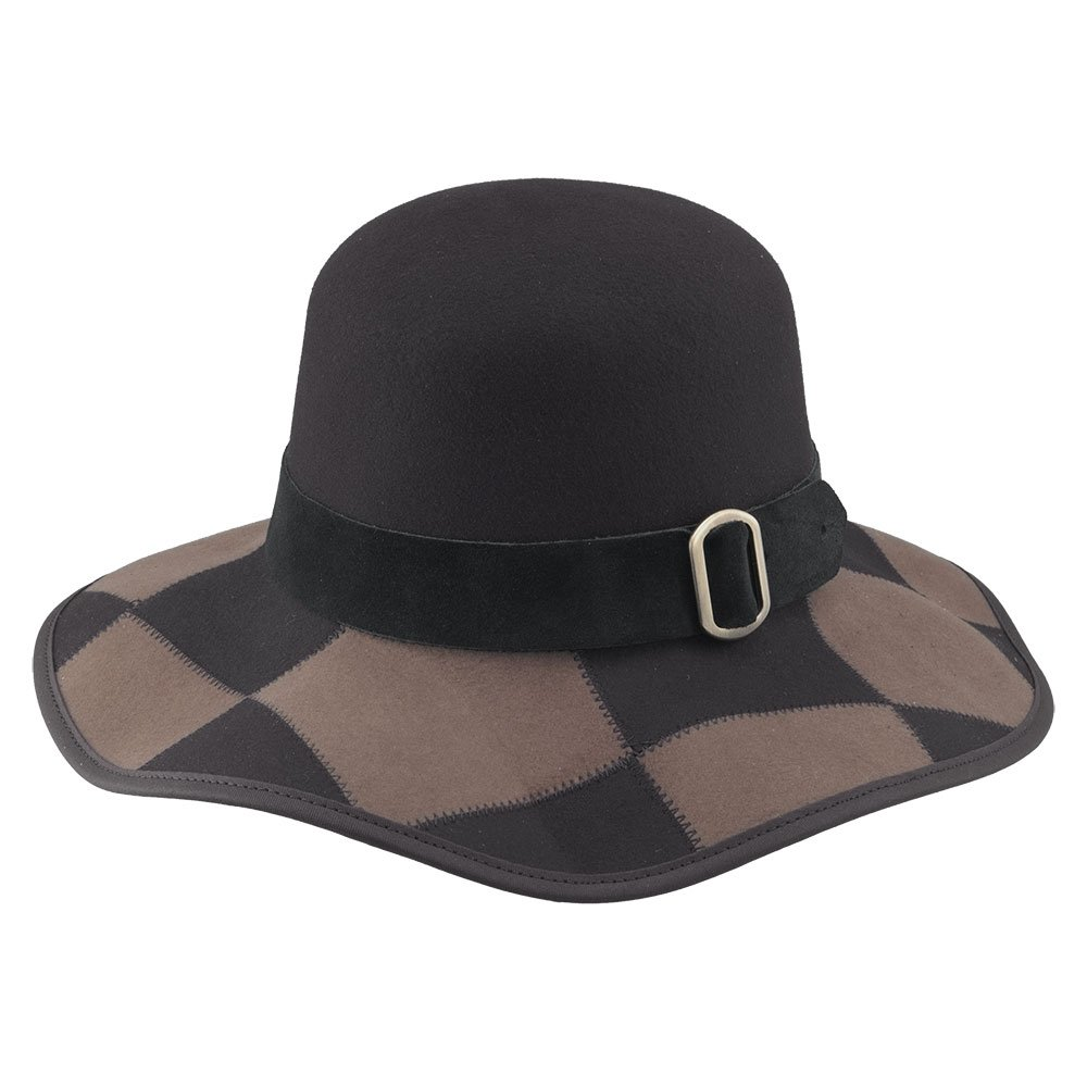 American Hat Makers Sexy by Ashbury Hats Wide brimmed Felt Hat, Brown - X-Large by American Hat Makers