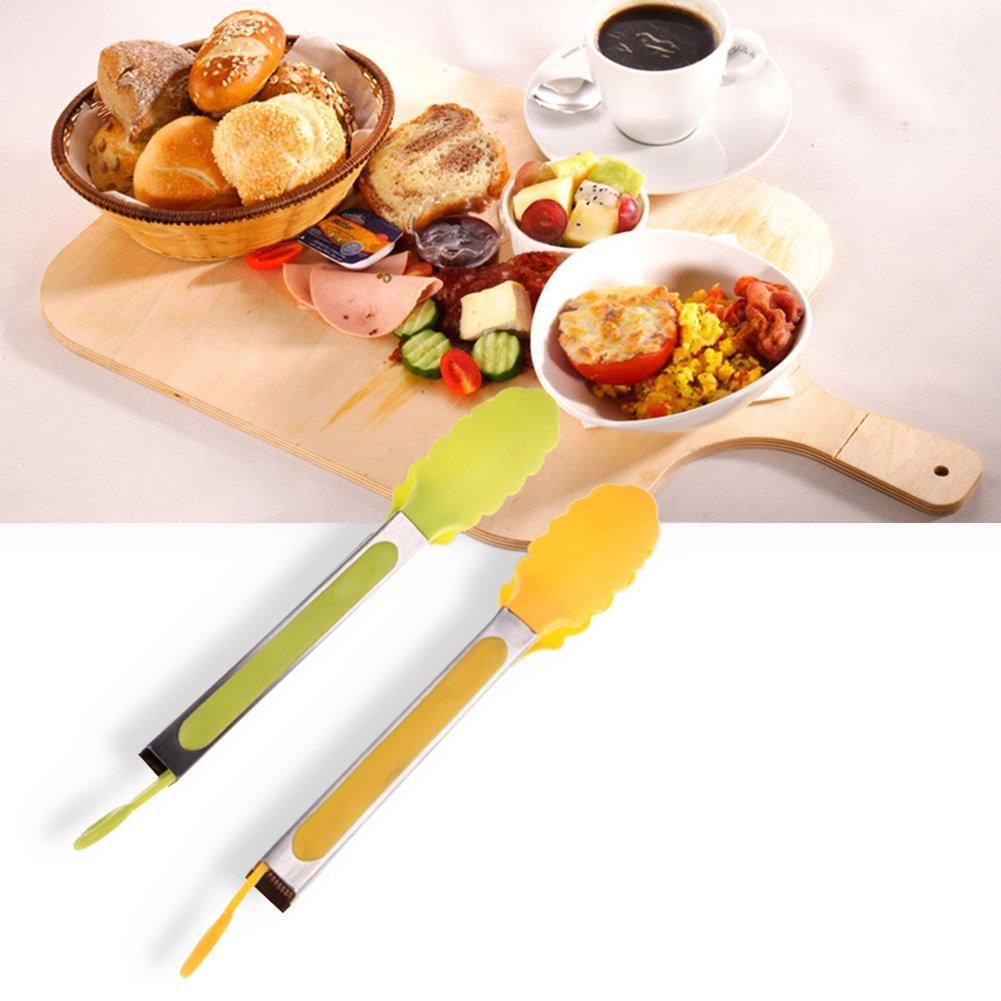 2/pz BBQ cibo clip colore casuale /barbecue pane bruciature BBQ clip Woopower multifunzione in silicone alimentare pinze da barbecue/
