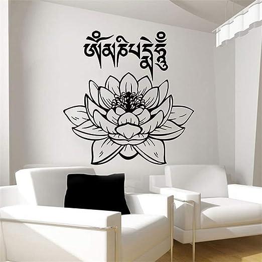 pegatina de pared 3d Yoga Club Sticke Lotus Decal Posters ...