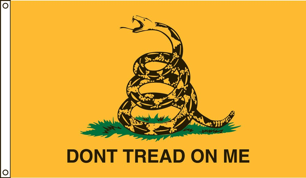 Valley Forge Flag 4-Foot by 6-Foot Nylon Gadsden Historical Flag with Canvas Header and Grommets by Valley Forge