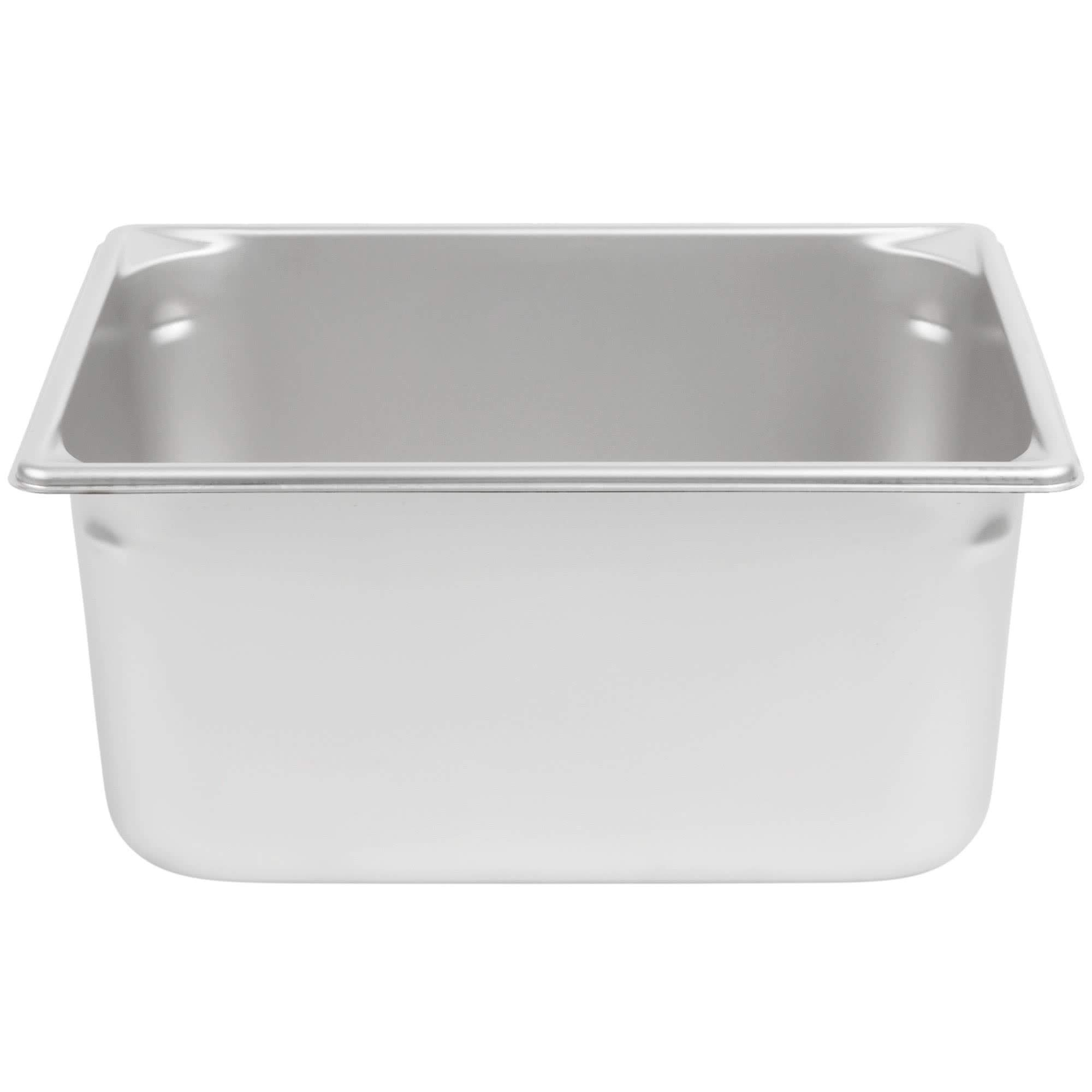 TableTop King 30262 Super Pan V 1/2 Size Anti-Jam Stainless Steel Steam Table/Hotel Pan - 6'' Deep by TableTop King