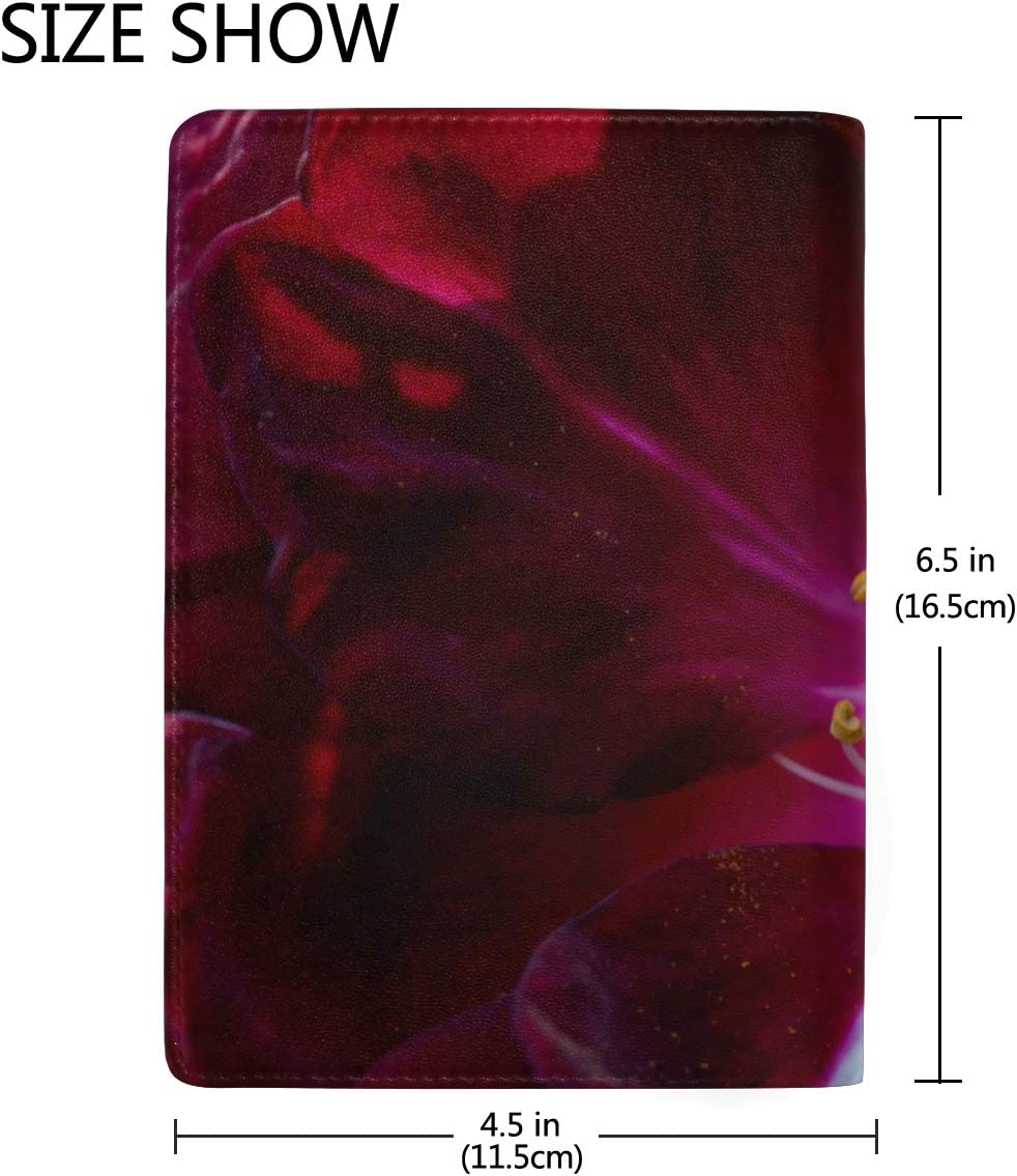 Flowers Stamens And Stamens Blocking Print Passport Holder Cover Case Travel Luggage Passport Wallet Card Holder Made With Leather For Men Women Kids Family