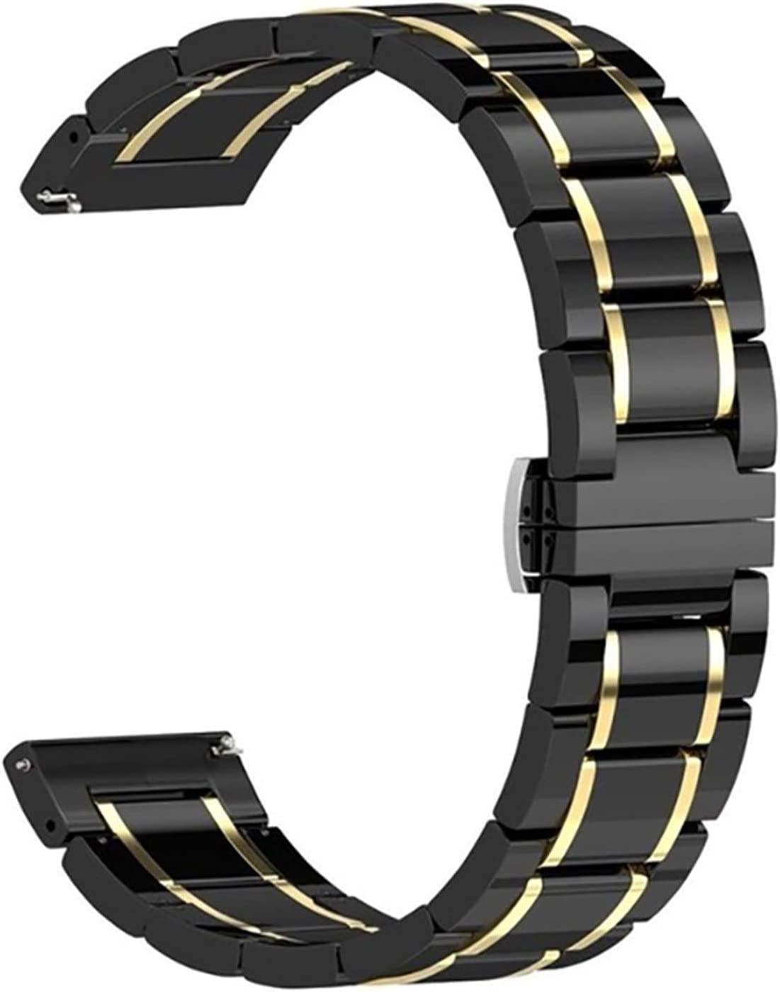 Rarting Flyuzi Ceramic Strap for Apple Watch Band 44mm 40mm 42mm 38mm Accessories Stainless Butterfly Buckle Bracelet for IWatch Series 6 Se 5 4 3 (Band Color : 2, Band Width : 38mmor40mm)