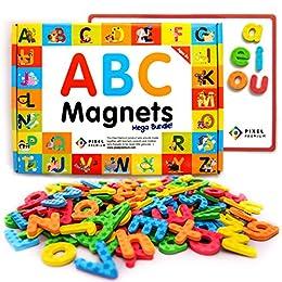 f39fbda58 Pixel Premium ABC Magnets for Kids - 142 Magnetic Letters for Fridge