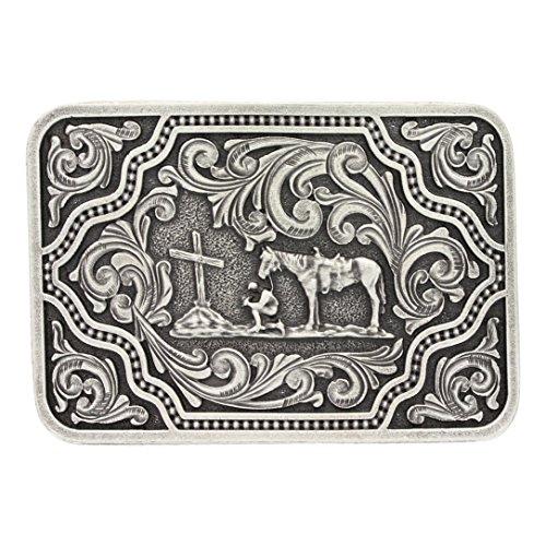 Montana Silversmiths Men's Silver And Christian Cowboy Belt Buckle Silver One (Montana Silversmiths Belt)