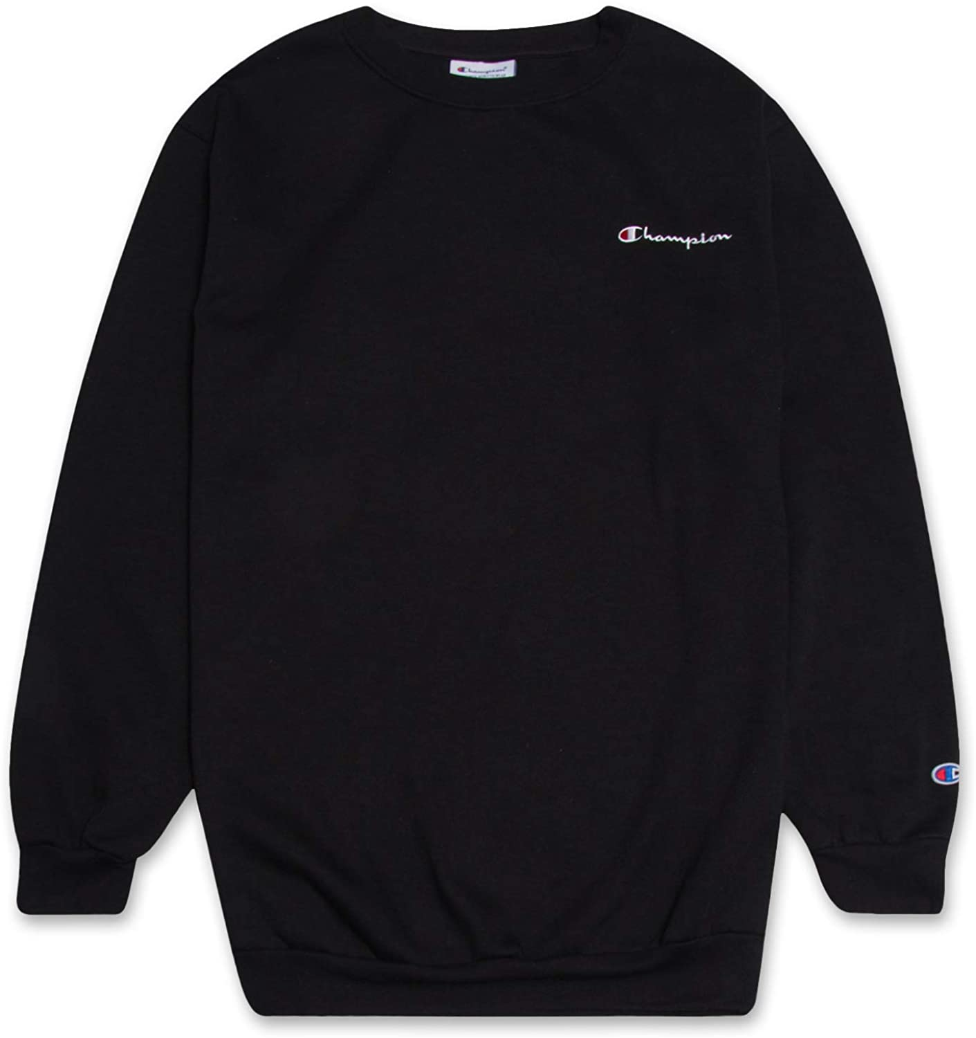 Champion Crewneck Fleece Sweatshirt For Men S Big And Tall With Script Logo At Amazon Men S Clothing Store