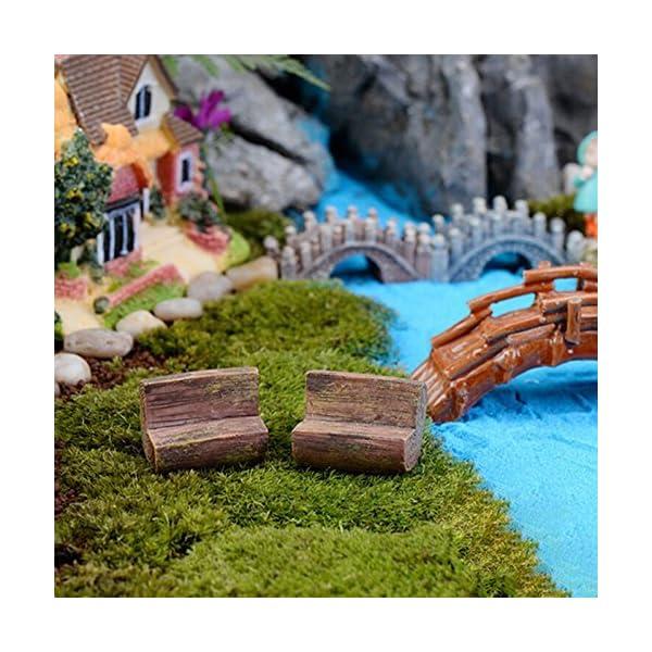 Da.WA mini Fairy Garden Park sedia divano Bench Model Home Decoration Outdoor Decor 7 spesavip