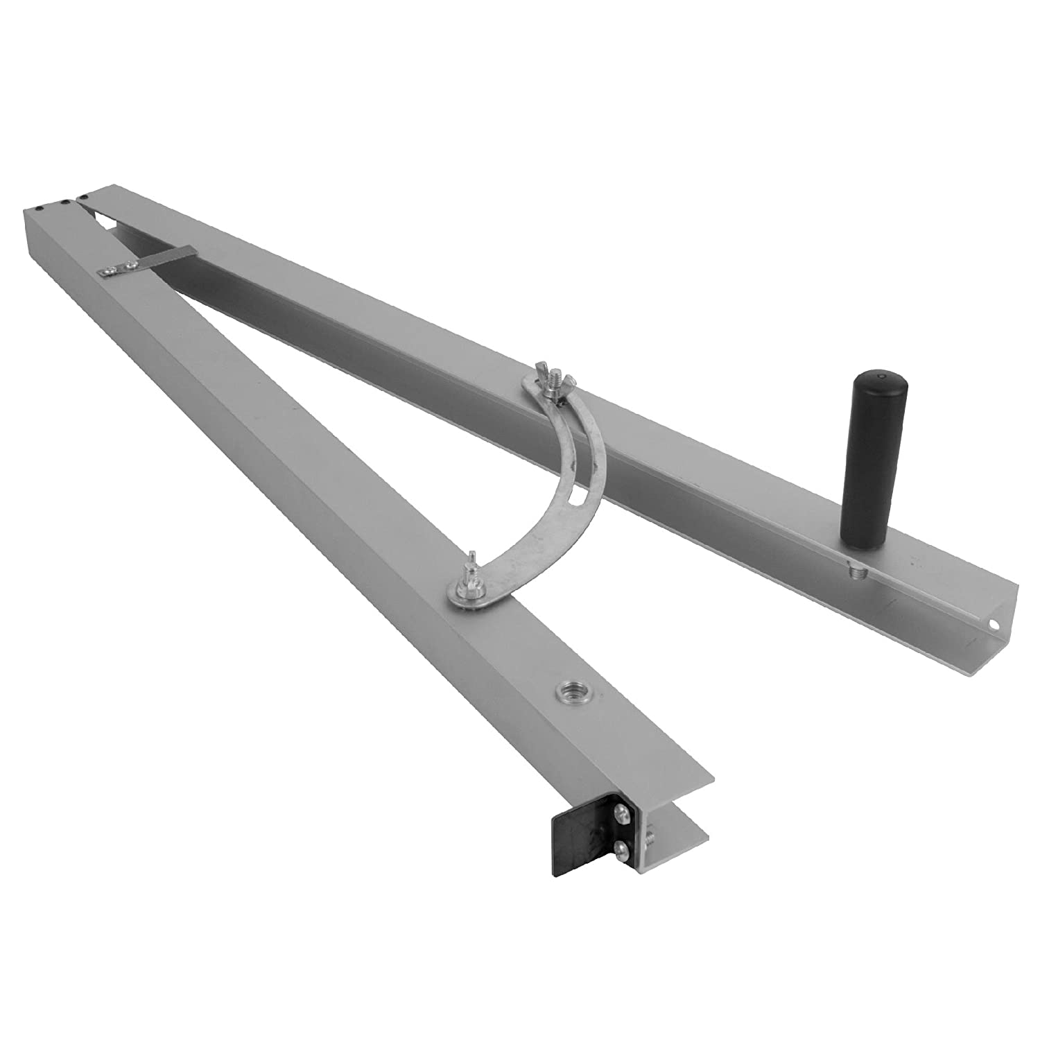 "Taper Cutting Jig for Creating Tapered Angles Up to 15 Degrees on Your Table Saw - 24"" Long Aluminum Rails with Scale and Stop"