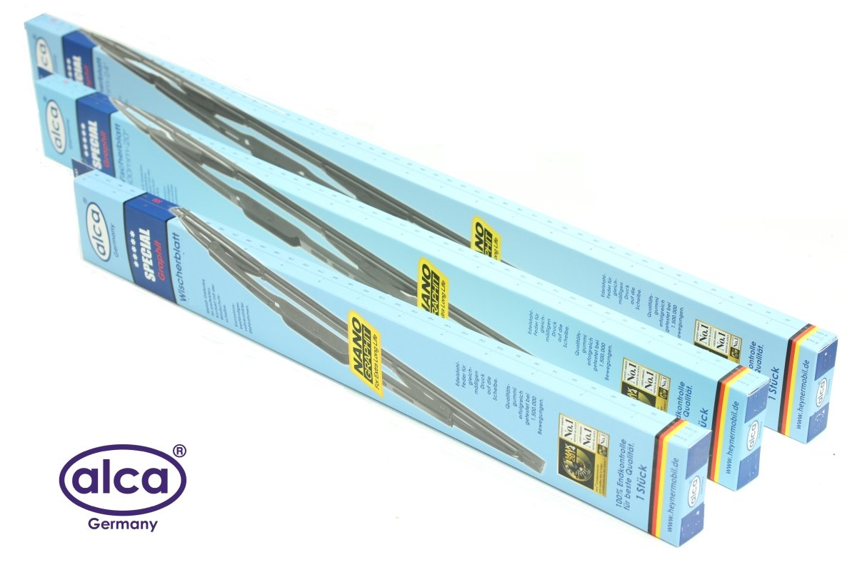 Alca Special WINDSCREEN WIPER BLADES SET OF 3 24' 24' and Rear 16'' AS242416H [SEAKID]