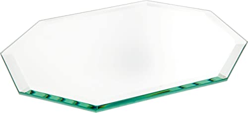 Plymor Long Octagon 5mm Beveled Glass Mirror, 7 inch x 9 inch Pack of 24