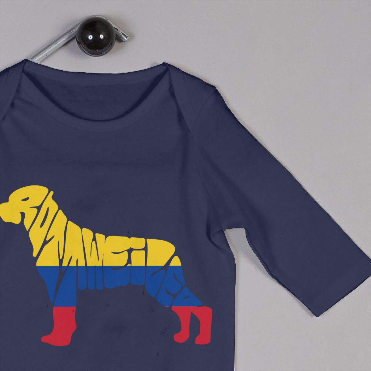 Mri-le1 Toddler Baby Boy Girl Long Sleeve Jumpsuit Colombia Flag Rottweiler Dog Baby Rompers