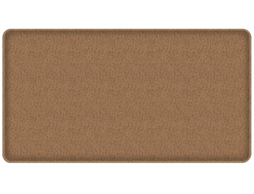 """GelPro Classic Anti-Fatigue Kitchen Comfort Chef Floor Mat, 20x36"""", Quill Riverbed Grey Stain Resistant Surface with 1/2"""" Gel Core for Health and Wellness"""