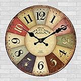 24 inch craft clock high-end craft stylish wall clock-style country wall art clock wall clock 60cm,V-24 inches