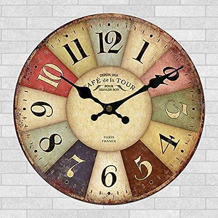 Amazon Com 24 Inch Craft Clock High End Craft Stylish Wall Clock