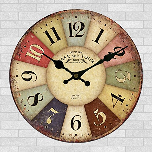 24 inch craft clock high-end craft stylish wall clock-style country ...