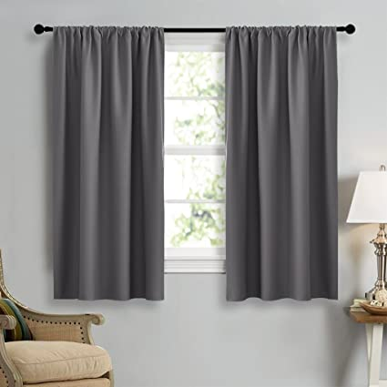 Amazon.com: NICETOWN Grey Window Curtains for Bedroom - Home ...
