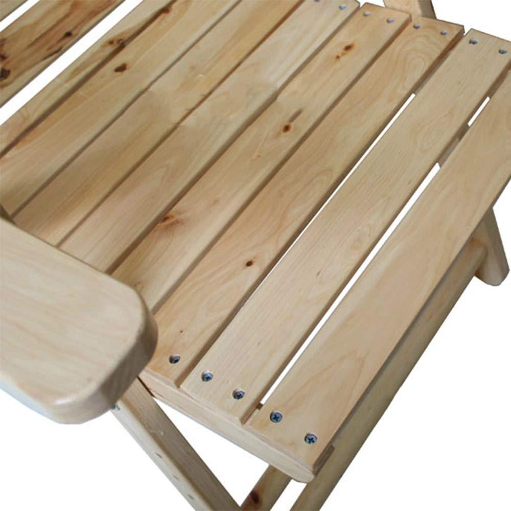 Amazon.com: Meiduo - Tumbona reclinable de madera maciza con ...