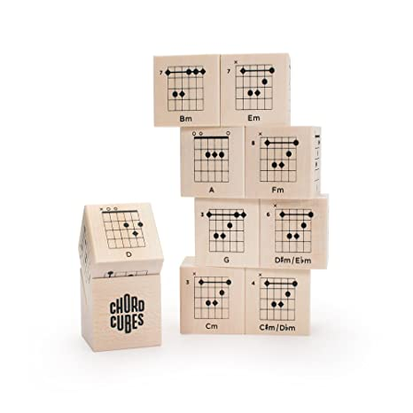 Amazon.com: Uncle Goose Chord Cubes Guitar Blocks - Made in USA ...