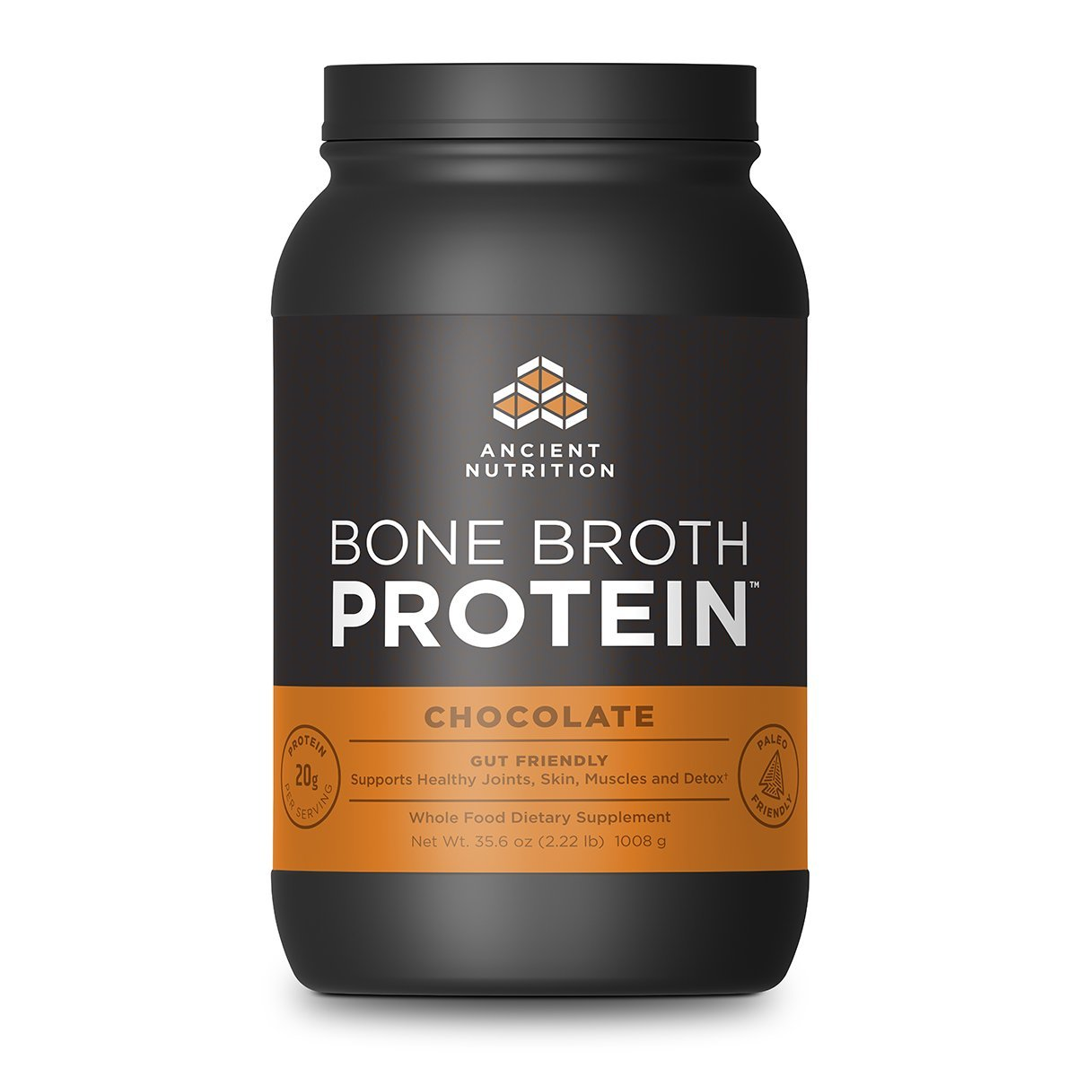 Ancient Nutrition Bone Broth Protein Powder, Chocolate Flavor, 40 Servings Size