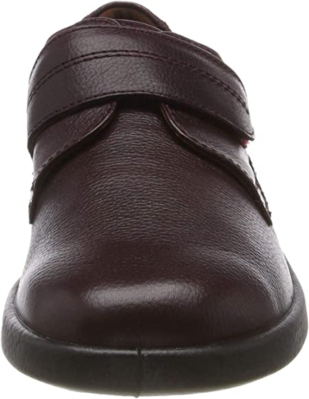 Padders AIR Mens Soft Leather Standard F Cushioned Insole Comfort Shoes Black