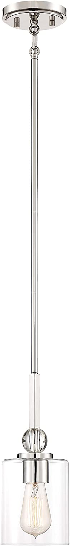Minka Lavery Pendant Ceiling Lighting 3070-613 Studio 5, 1-Light 60 Watts, Polished Nickel