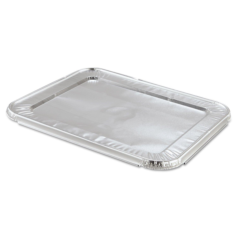蒸気表パンFoil Lid , Fits half-sizeパン、100 /パック B00O25F4DM