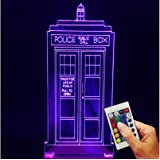 Doctor Who Decorative Lamp Police Box (3D-Hologram Illusion)