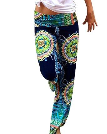 Femmes Evasée Pantalons Taille Haute Jogging Sarouel Fluide Floral Imprimé   Amazon.fr  Vêtements et accessoires 67b0023e9d2