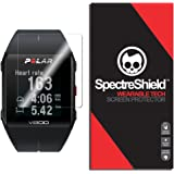 [6-PACK] Screen Protector Compatible with Polar V800 by Spectre Shield (Wearable Tech) Flexible Full Coverage Invisible HD Clear Anti-Bubble Anti-Scratch