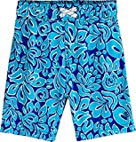 Coolibar UPF 50+ Baby Boys' Island Swim Trunks - Sun Protective (12-18 Months- Blue Wave Hawaiian)