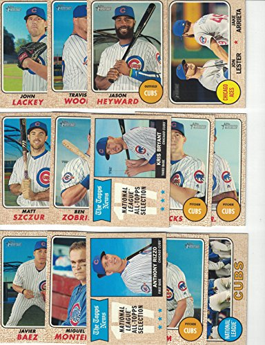 Chicago Cubs / Complete 2017 Topps Heritage Baseball Team Set! 2016 World Series Champs!!