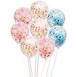 "CCINEE 8pcs 12"" Confetti Balloons Party Wedding Decorations"